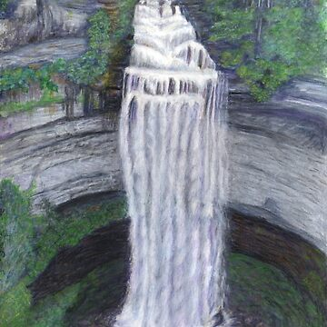 Fall Creek Falls Watercolor Painting by redspearart
