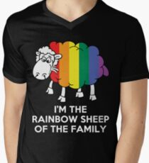 I'm The Rainbow Sheep Of The Family T-Shirt Men's V-Neck T-Shirt