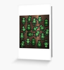 Lost robots Fiction Futuristic Graphic T-shirt Greeting Card