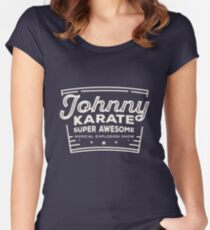 Johnny karate  Women's Fitted Scoop T-Shirt