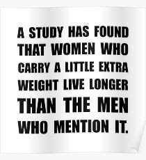Study Found Extra Weight Poster
