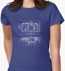 Vintage Photography: Nikon Blueprint Women's Fitted T-Shirt