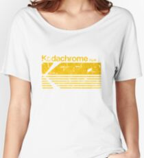 Vintage Photography: Kodak Kodachrome - Yellow Women's Relaxed Fit T-Shirt
