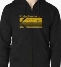 Vintage Photography: Kodak Kodachrome - Yellow Zipped Hoodie