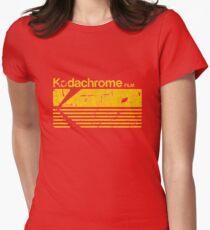 Vintage Photography: Kodak Kodachrome - Yellow Womens Fitted T-Shirt