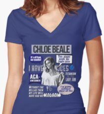 Chloe Beale - Pitch Perfect - Bechloe - Brittany Snow Women's Fitted V-Neck T-Shirt