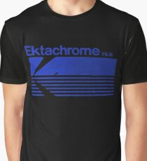 Vintage Photography: Kodak Ektachrome - Blue Graphic T-Shirt
