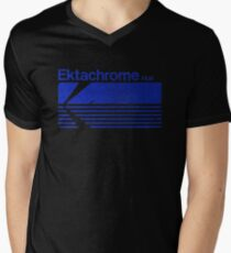 Vintage Photography: Kodak Ektachrome - Blue Men's V-Neck T-Shirt