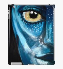 Blue oil pastel inspired by Avatar iPad Case/Skin