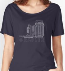 Vintage Photography - Graflex Blueprint (Version 2) Women's Relaxed Fit T-Shirt