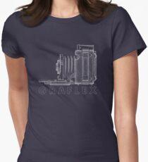 Vintage Photography - Graflex Blueprint (Version 2) Women's Fitted T-Shirt