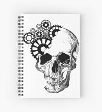 Clockwork Skull Spiral Notebook