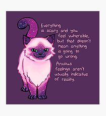 Anxiety Encouragement Galaxy Cat Photographic Print