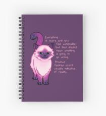 Cuaderno de espiral Ánimo de la ansiedad Galaxy Cat