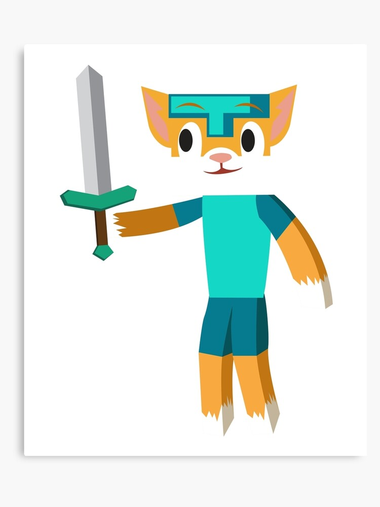 Stampy Cat Minecraft Youtuber - Stampylongnose, Stampylonghead | Canvas  Print
