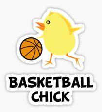 Basketball Chick Sticker