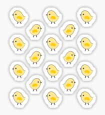 Busy Chicks - Aqua Sticker