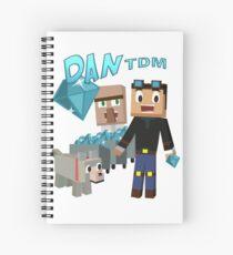 DanTDM The Diamond Minecart - Minecraft Youtuber Spiral Notebook