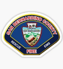 San Bernardino County Fire Sticker