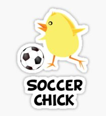 Soccer Chick Sticker