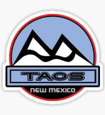 TAOS NEW MEXICO Mountain Skiing Art Sticker