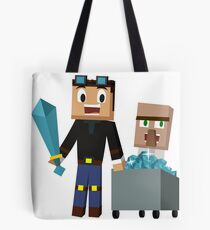 The Diamond Minecart DanTDM and Doctor Trayaurus - Minecraft Youtuber Tote Bag