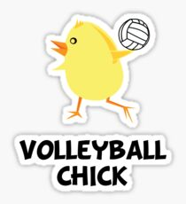 Volleyball Chick Sticker