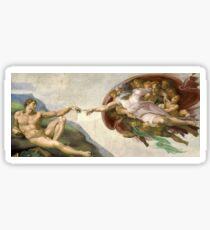 Pegatina Creación de Adán - Pintado por Miguel Ángel