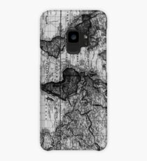 Vintage Map of The World (1833) White & Black Case/Skin for Samsung Galaxy