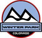 WINTER PARK COLORADO Mountain Skiing Art by MyHandmadeSigns