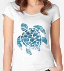 Ocean Sea Turtle Women's Fitted Scoop T-Shirt