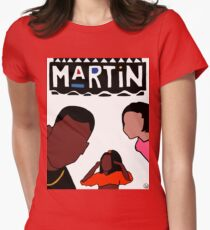 Martin (White) Womens Fitted T-Shirt