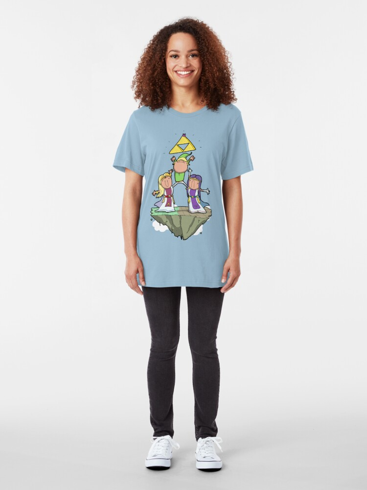 Alternate view of Between two derps Slim Fit T-Shirt