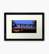 One Tree Hill Bridge Framed Print