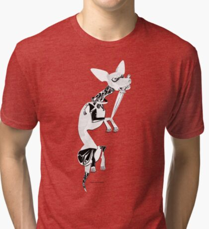 Momo as Inugami Tri-blend T-Shirt