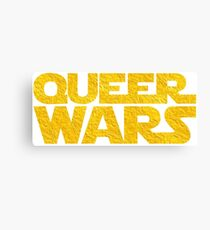 Queer Wars LGBT Parody  Canvas Print