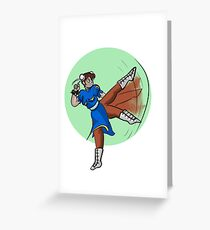 Street Fighter- Chun Li Greeting Card