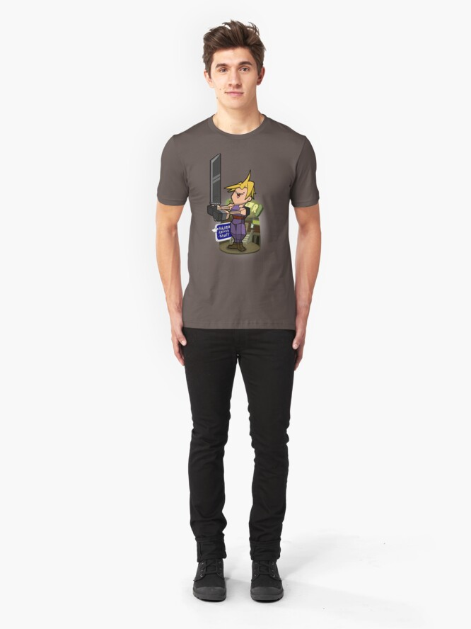 Alternate view of Low poly hero Slim Fit T-Shirt