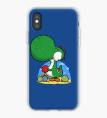 Wooly Egg Chucking Dinosaur iPhone Case