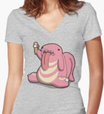 Number 108 Women's Fitted V-Neck T-Shirt