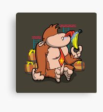 That's not how you eat a banana! Canvas Print
