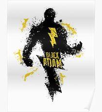 Black Adam Splatter Art Poster