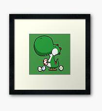 Egg Chuckin' Dinosaur Framed Print