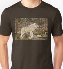 Solitary Timber Wolf Unisex T-Shirt