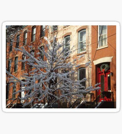 Jersey City After a Wet Snow, Jersey City, New Jersey Sticker