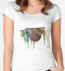 That Sloth Women's Fitted Scoop T-Shirt