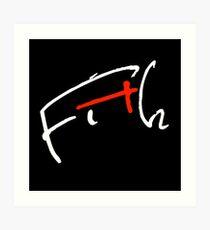 Fith Signature negro Lámina artística