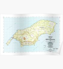 USGS TOPO Map Northern Mariana Islands MP Island Of Rota (Luta) 462334 1983 25000 Poster