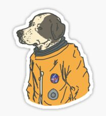space dog Sticker