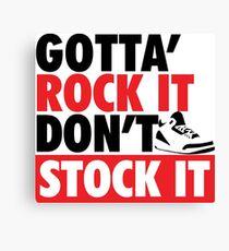 Gotta Rock It - J3 Fire Red Canvas Print